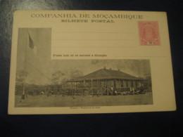 10 Reis Chimoio Flag Residencia Elephant Bilhete Postal Companhia Moçambique MOZAMBIQUE Portugal Colonies Stationery - Mozambique