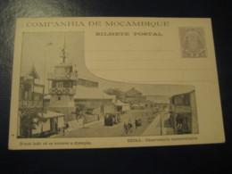 20 Reis Beira Meteorology Observatory Bilhete Postal Companhia De Moçambique MOZAMBIQUE Portugal Colonies Stationery - Mozambique