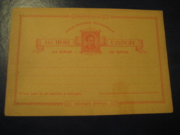 20 Reis SAO THOME E. PRINCE St. Thomas & Prince Bilhete Postal UPU Portugal Colonies Postal Stationery Card - St. Thomas & Prince