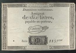 Assignat De Dix Livres / 10 Livres - Série 1157 - Assignats