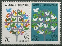 Korea (Süd) 1986 Int. Jahr Des Friedens 1433/34 Postfrisch - Corée Du Sud