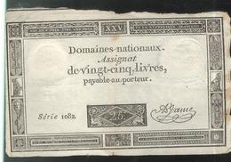 Assignat De Vingt Cinq Livres / 25 Livres - Série 1082 - Assignats