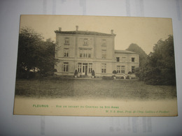 CPA - FLEURUS ( CHARLEROI ) - VUE DE DEVANT DU CHATEAU DE STE ANNE ( 1906 ) - Fleurus