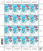 2019 Bogen 100 Jahre Schweizer Luftverkehr** / Swiss Air Transport / Transport Aérien Suisse / Trasporto Aereo Svizzero - Blocchi & Foglietti