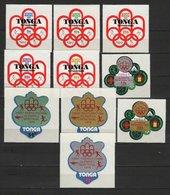 Tonga 1976 Olympic Games Montreal Set Of 10 MNH - Estate 1976: Montreal