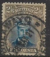 Southern Rhodesia / B.S.A.Co.1913, Admiral, 2/6 Deep Ultramarine & Grey-brown, Used ( Torn) - Rhodésie Du Sud (...-1964)