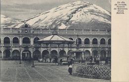 BOLIVIA , TARJETA POSTAL NO CIRCULADA , UN DIA DE NEVADA , PALACIO DE GOBIERNO - ORURO - Bolivia
