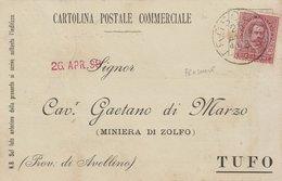 Frosolone. 1898. Annullo Grande Cerchio FROSOLONE, Su Cartolina Postale Commerciale - 1878-00 Umberto I