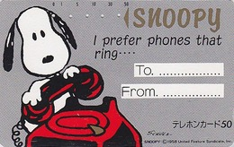 Télécarte Japon / 330-14411 - BD Comics - CHIEN SNOOPY ** TO FROM ** - PEANUTS DOG Japan Phonecard - 1356 - BD