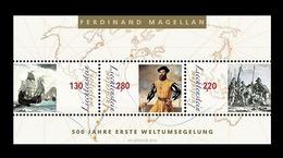 Liechtenstein 2019 Mih. 1951/53 (Bl.34) First World Circumnavigation Of Magellan. Ships MNH ** - Liechtenstein