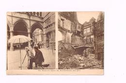 Ypres. Le Nieuwerk Avant Et Après Le Bombardement. - Guerre 1914-18