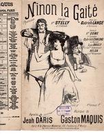 CAF CONC BOIRE CHAMPAGNE PARTITION NINON LA GAITÉ JEAN DARIS GASTON MAQUIS 1904 ILL STELLY LANGE CHALONS DOWE BAILLY - Musique & Instruments