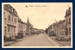 Musson. Grand' Rue Vers Baranzy. Voiture Ancienne. Eglise Saint-Martin. 1946 - Musson