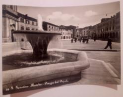 San Severino Marche Piazza Del Popolo VIAGGIATA 1955 ANIMATA Fontana - Macerata