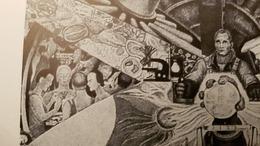 Propaganda - Diego Rivera. Man At The Crossroads (1934)  -  Syphilis Molecule - Satirical