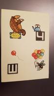 RUSSIA. Russian ABC. Turtle, Bee  -  1963 Postcard - Balloon - Schildpadden