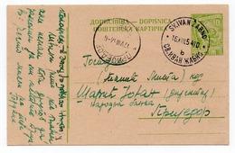1954 YUGOSLAVIA, SLOVENIA, SV. IVAN ZABNO TO PRIJEDOR, BOSNIA, STATIONERY CARD - Postal Stationery
