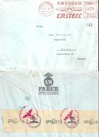 """Zensur Brief  """"Faber Castell, Bleistifte, Stein B.Nürnberg""""  (Freistempel)          1942 - Germany"""