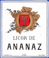 Liquor Label, Portugal - Licor De Ananaz - Labels