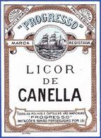 Old Liquor Label, Portugal - Licor De Canella / Progresso - Labels