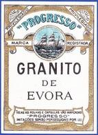 Old Liquor Label, Portugal - Granito De Évora / Progresso - Labels