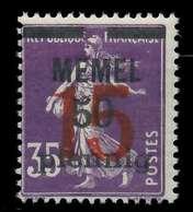MEMEL 1921 Nr 48 Postfrisch X887BCE - Memelgebiet