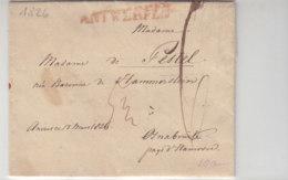 Brief Aus ANTWERPEN (1826) Nach Osnabrück .. - 1815-1830 (Holländische Periode)