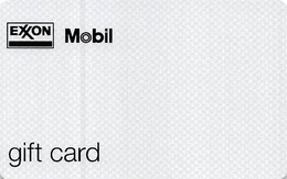 Exxon / Mobile Gas Station Gift Card - Small Logo / $25 Initial Value Printed On Back - Gift Cards