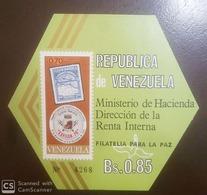 O) 1970 VENEZUELA, EXFILCA - INTERAMERICAN PHILATELIC EXHIBITION, ODD SHAPE - HEXAGON - SC 976a, MNH - Venezuela