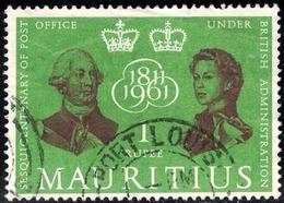150th Postal Service Under British Administration, Mauritius Stamp SC#268 Used - Mauricio (...-1967)
