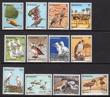BOTSWANA - 1982 BIRDS SHORT SET TO 25t (12V) FINE MNH ** SG 515-526 - Botswana (1966-...)