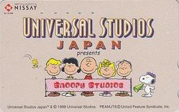 Télécarte Japon / 110-210703 - BD Comics - CHIEN SNOOPY ** UNIVERSAL STUDIOS **  - PEANUTS DOG Japan Phonecard - 1385 - Japan