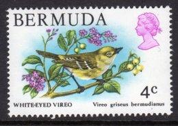 BERMUDA - 1978 4c WHITE-EYED VIREO BIRD STAMP FINE MNH ** SG 388 - Bermuda