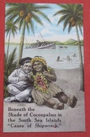 """Beneath The Shade Of Cocoapalms In The South Sea Island """"Cause Of  Shipwreck""""    >     Ref    3589 - Humour"""