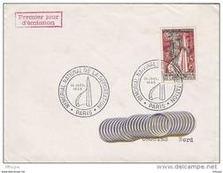 L4C129 France 1956 Paris Lettre  Cachet GF Mémorial National De La Déportation Paris 14 01 1956 - FDC