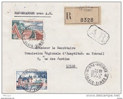 L4C373 France 1964 Devant  LAR Avesne Le Comte Pas De Calais Pour Lille Aff Le Touquet 1,00f Sully Sur Loire 0,45f  Ob - Covers & Documents