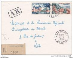 L4C374 France 1964 Devant LAR Ailly Sur Noye Somme Pour Lille Aff  Le Touquet 1,00f Sully Sur Loire 0,45f Obl Cad Ailly - Covers & Documents