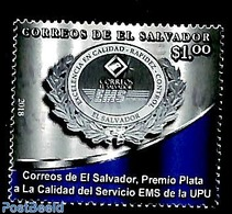 El Salvador 2019 Silver Prize For EMS Quality Service 1v, (Mint NH) - Salvador