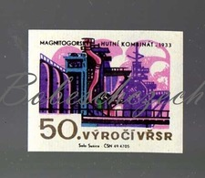 L1-170 CZECHOSLOVAKIA 1967-50th Anniversary October Revolution  Magnitogorsk Iron And Steel Works 1933 - Zündholzschachteletiketten