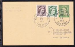 Kanada K2 Resolute Bay N.W.T. Post Office Auf Ganzsache Mit Zusatzfrankatur Der - Stamps