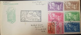 O) 1935 PHILIPPINES, FIRST FLIGHT CHINA CLIPPER, THE TEMPLES OF HUMAN PROGRESS PHILIPPINE COMMONWEALTH, TO USA - Philippines