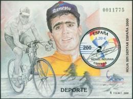 SPAIN 2000 ESPAÑA WORLD PHILATELIC EXPO S/S V OF XI, BICYCLE RACING** (MNH) - 1931-Hoy: 2ª República - ... Juan Carlos I