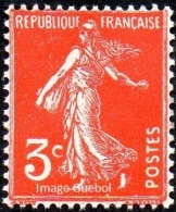 France N°  278 A ** Semeuse De Roty - Plein Fond Le 3 Cts Orange - Neufs