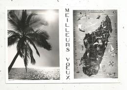 Carte De Voeux ,4 Pages ,MADAGASCAR , Carte ,écrite 1968 - Madagascar