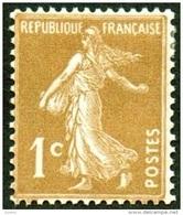 France N°  277 B ** Semeuse De Roty - 1 Ct  Bistre Brun - Neufs
