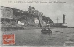 SAINT-BRIEUC - LA POINTE A L'AIGLE - PHARE DU LEGUE - HOTEL TERMINUS - BELLE ANIMATION - 1916 - Saint-Brieuc