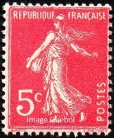 France N°  278 B ** Semeuse De Roty - Plein Fond Le 5 Cts Rose - Neufs