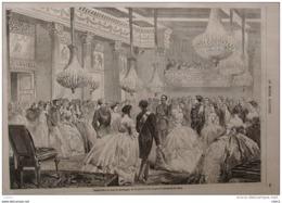 Grand Bal à Cour De Sardaigne - Page Original 1859 - Historische Documenten