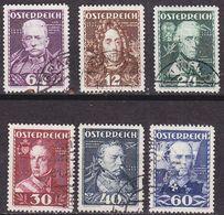 ÖSTERREICH AUSTRIA [1935] MiNr 0617-22 ( O/used ) - 1918-1945 1. Republik