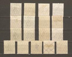 Allemagne Reich 1916/22 - Germania - Petit Lot De 17 Timbres  - 5 MNH 8 MH  4 NSG - Kilowaar (max. 999 Zegels)